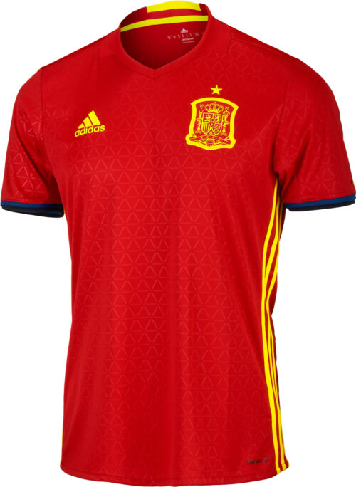 adidas Kids Spain Home Jersey 2016-17 NS
