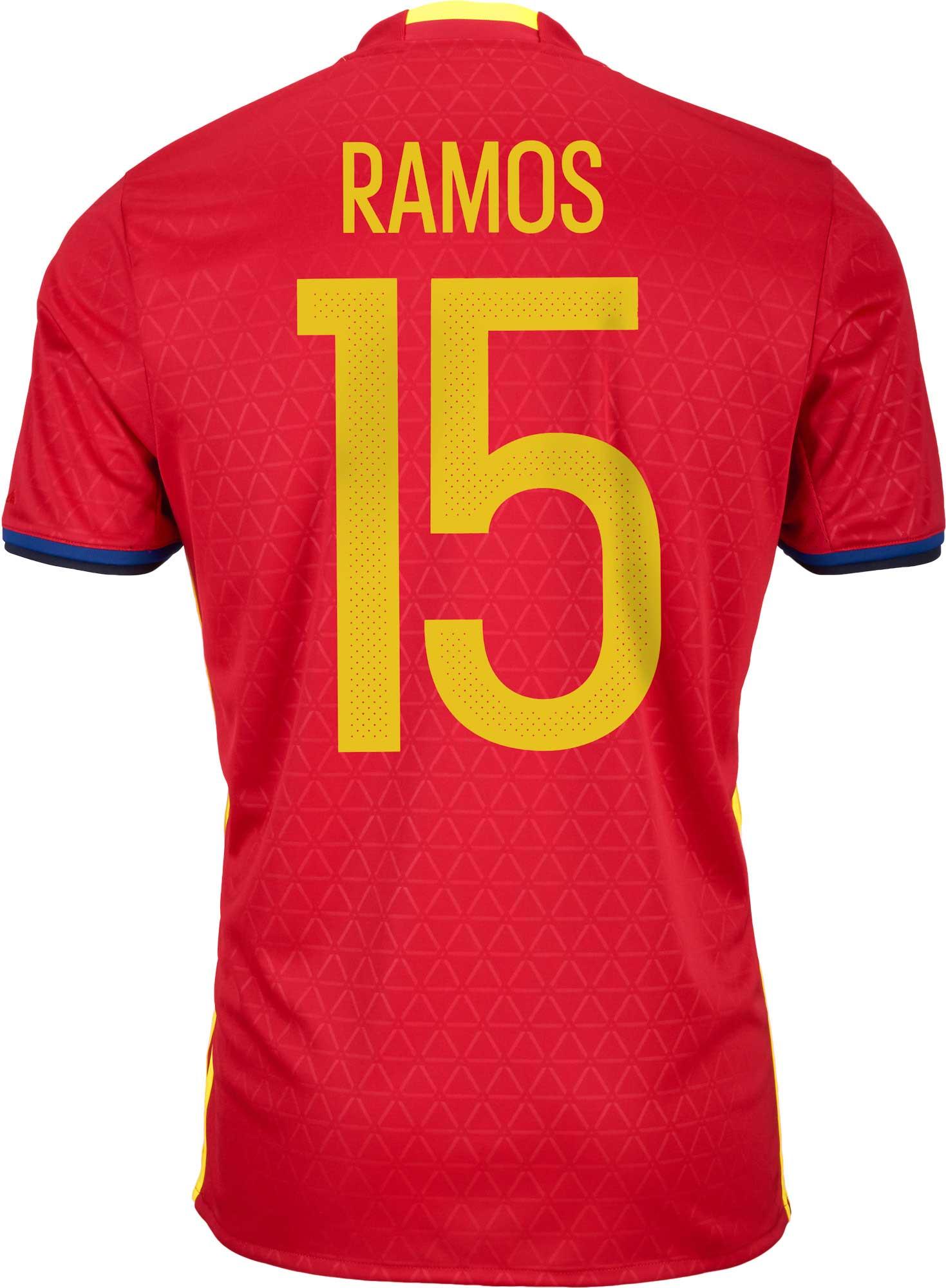 c551519d7 adidas Ramos Spain Home Jersey - 2016 Spain Jerseys