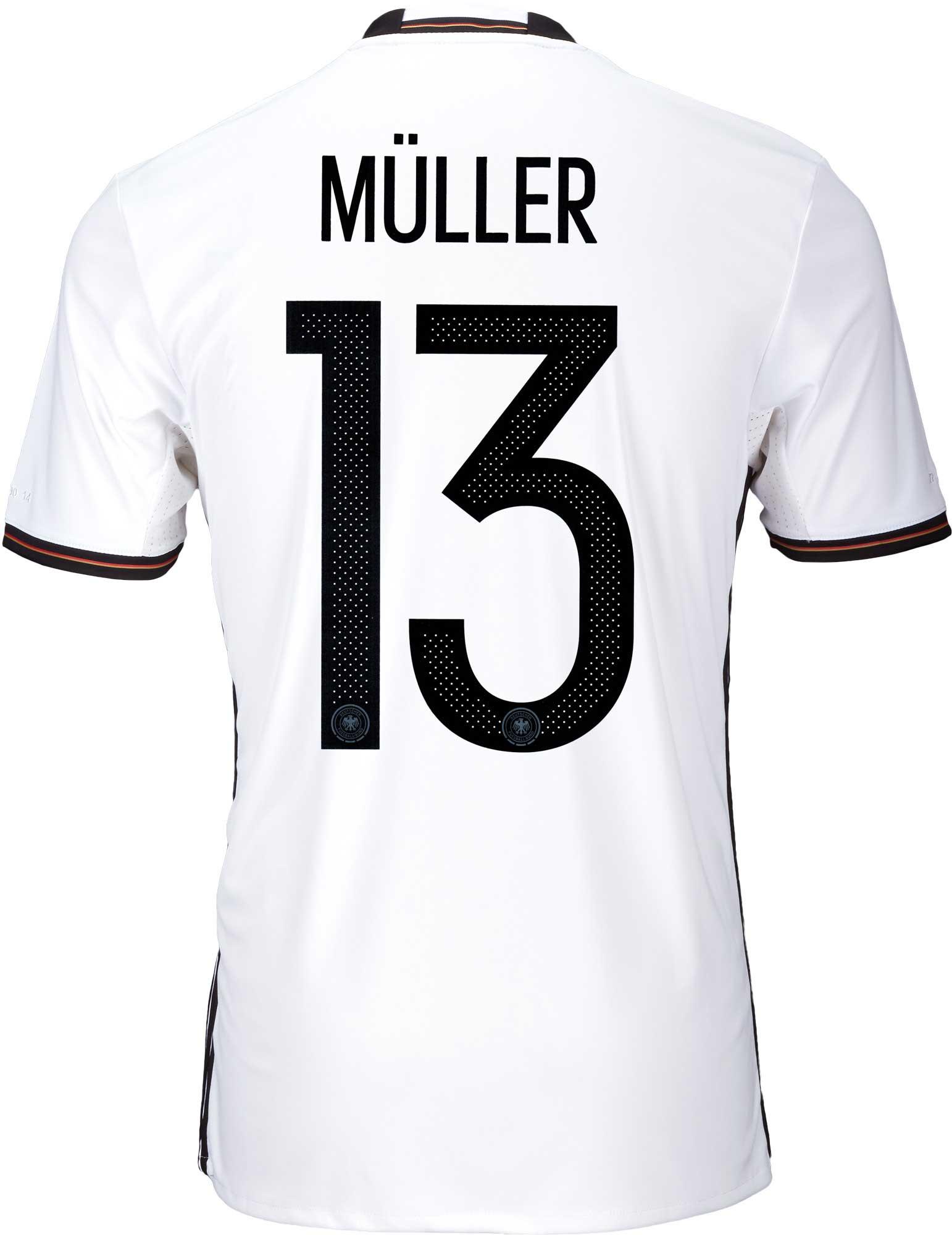 adidas Kids Muller Germany Home Jersey - 2016 Germany Jerseys 870512e53
