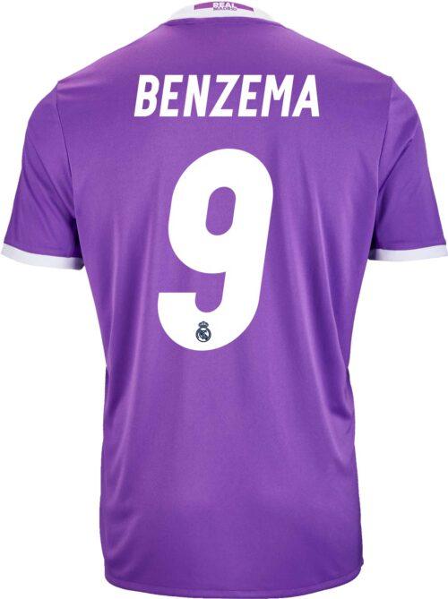 adidas Kids Karim Benzema Real Madrid Away Jersey 2016-17