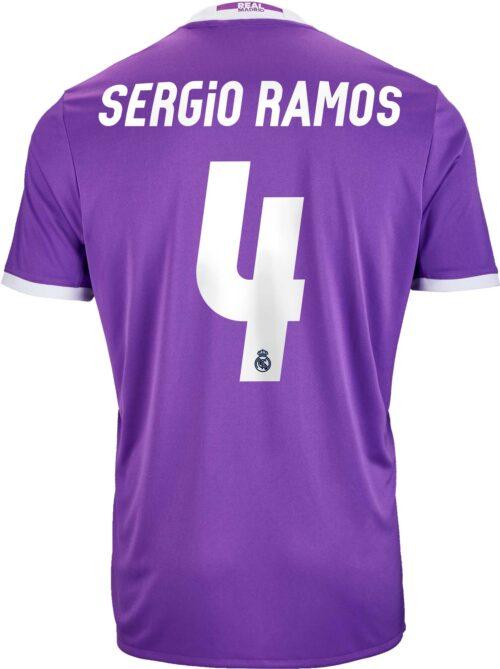 adidas Kids Sergio Ramos Real Madrid Away Jersey 2016-17