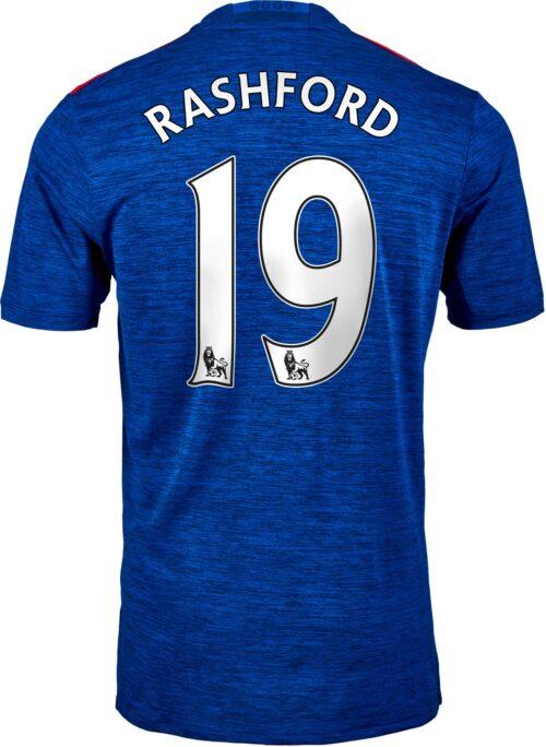 adidas Marcus Rashford Manchester United Away Jersey 2016-17