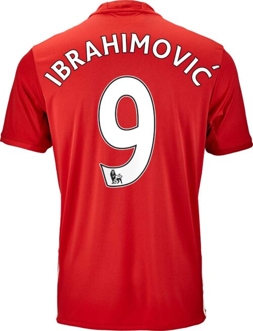 adidas Zlatan Ibrahimovic Manchester United Home Jersey 2016-17