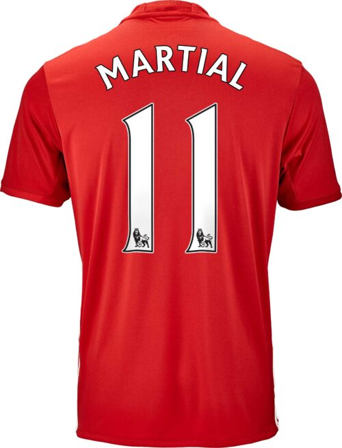adidas Anthony Martial Manchester United Home Jersey 2016-17