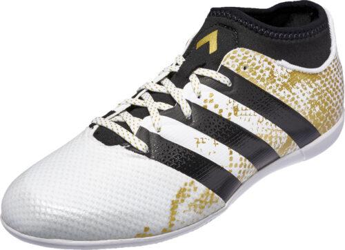 adidas Kids ACE 16.3 Primemesh IN – White/Metallic Gold