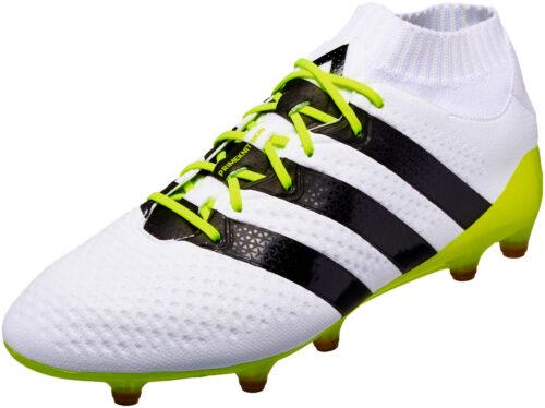 adidas Womens ACE 16.1 Primeknit FG/AG – White/Core Black