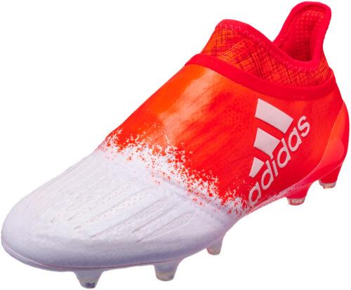 adidas Womens X 16  Purespeed FG/AG – White/Solar Red