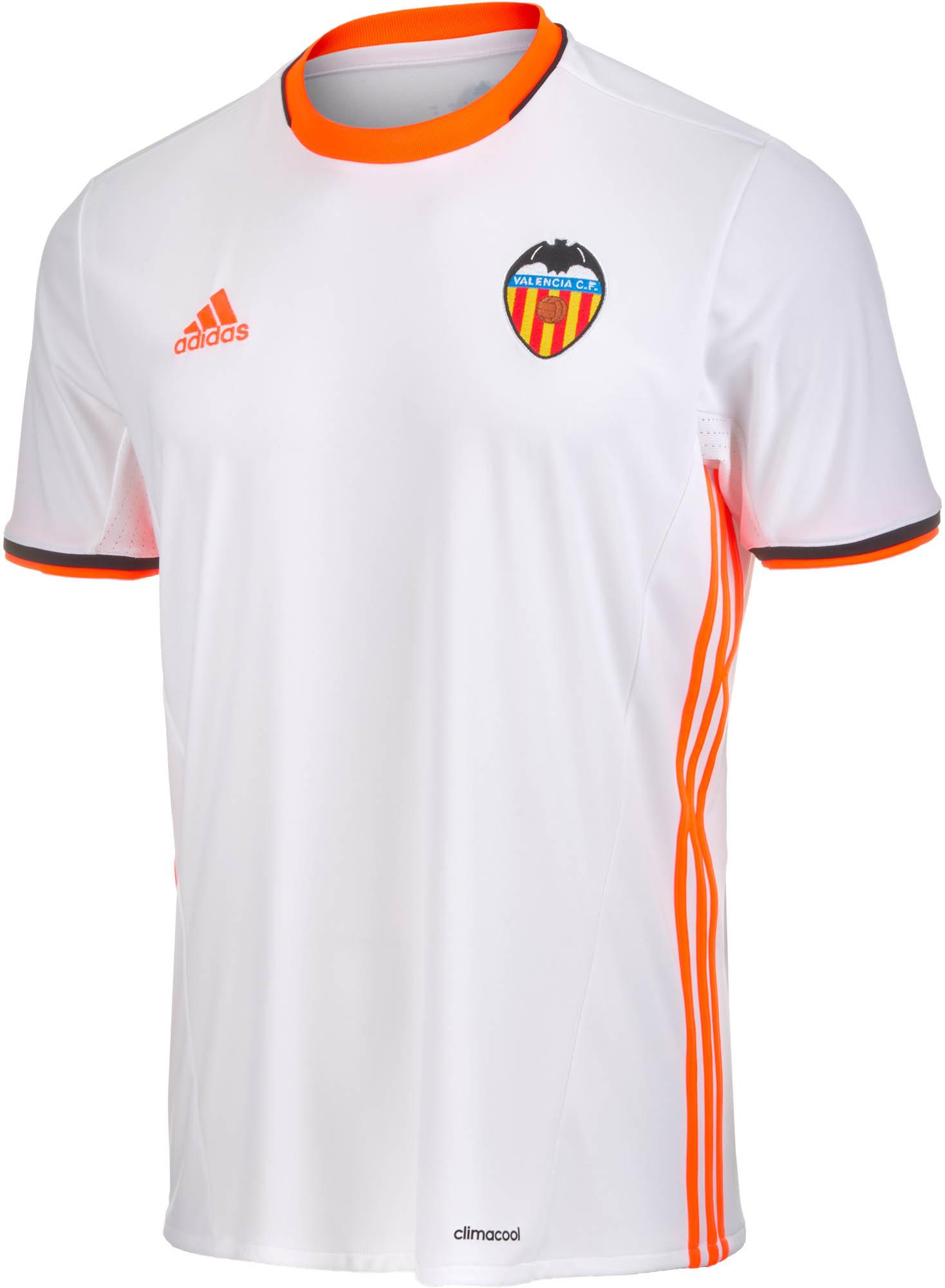 adidas Valencia Home Jersey - 2016 Valencia Soccer Jerseys c1d86baa7