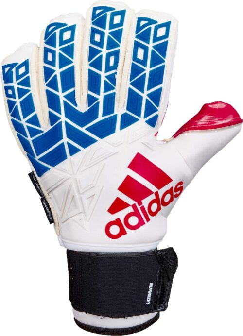 adidas ACE Trans Ultimate Goalkeeper Gloves – White/Blue