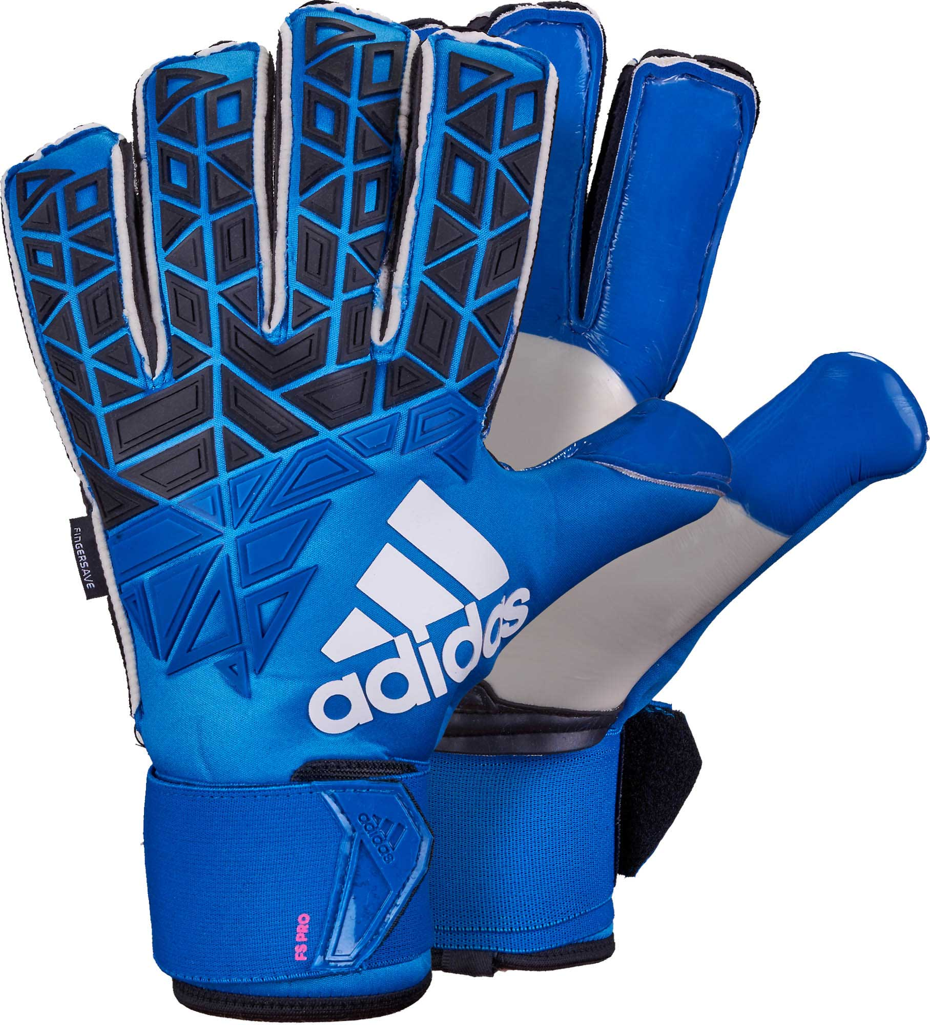 sports shoes 57ecb a9419 adidas ACE Trans Fingersave Pro Goalkeeper Gloves – Blue/Shock Pink