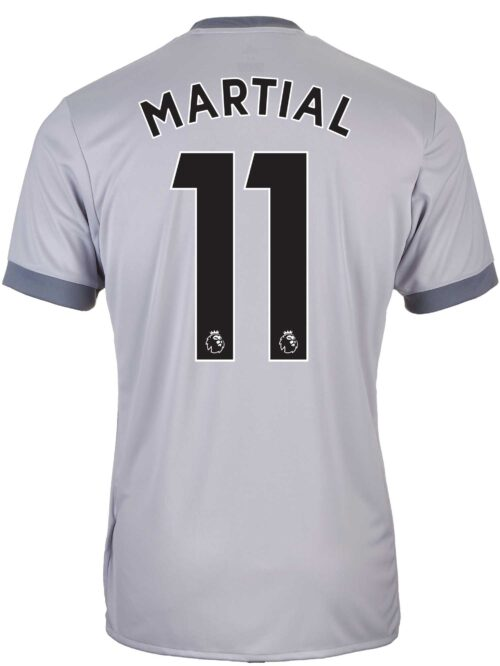 adidas Kids Anthony Martial Manchester United 3rd Jersey 2017-18