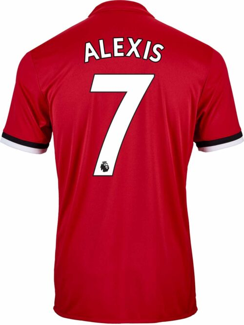 adidas Kids Alexis Sanchez Manchester United Home Jersey 2017-18