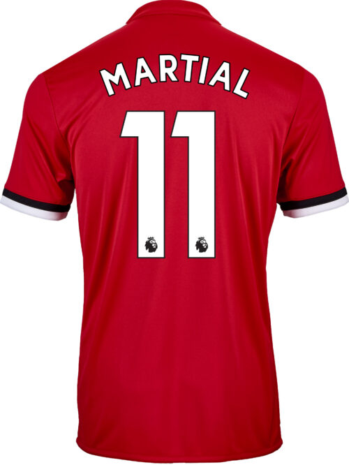 adidas Kids Anthony Martial Manchester United Home Jersey 2017-18