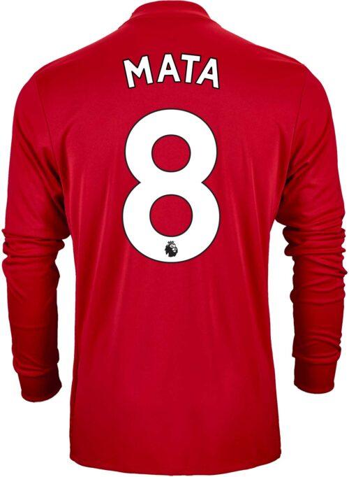 2017/18 adidas Juan Mata Manchester United L/S Home Jersey