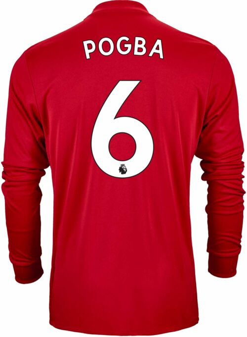 adidas Paul Pogba Manchester United L/S Home Jersey 2017-18