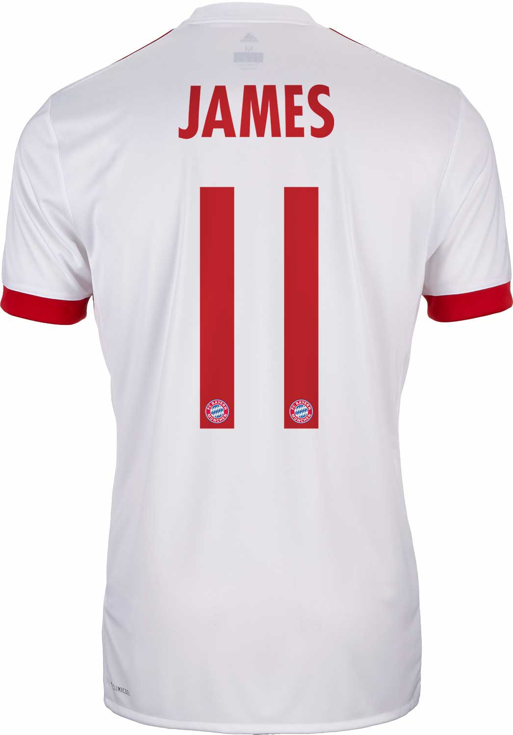 newest c6e16 e34d5 2017/18 adidas Kids James Rodriguez Bayern Munich UCL Jersey ...