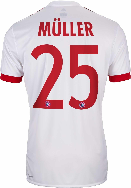 2017/18 adidas Kids Thomas Muller Bayern Munich UCL Jersey - SoccerPro