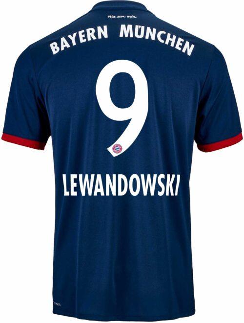 2017/18 adidas Kids Robert Lewandowski Bayern Munich Away Jersey