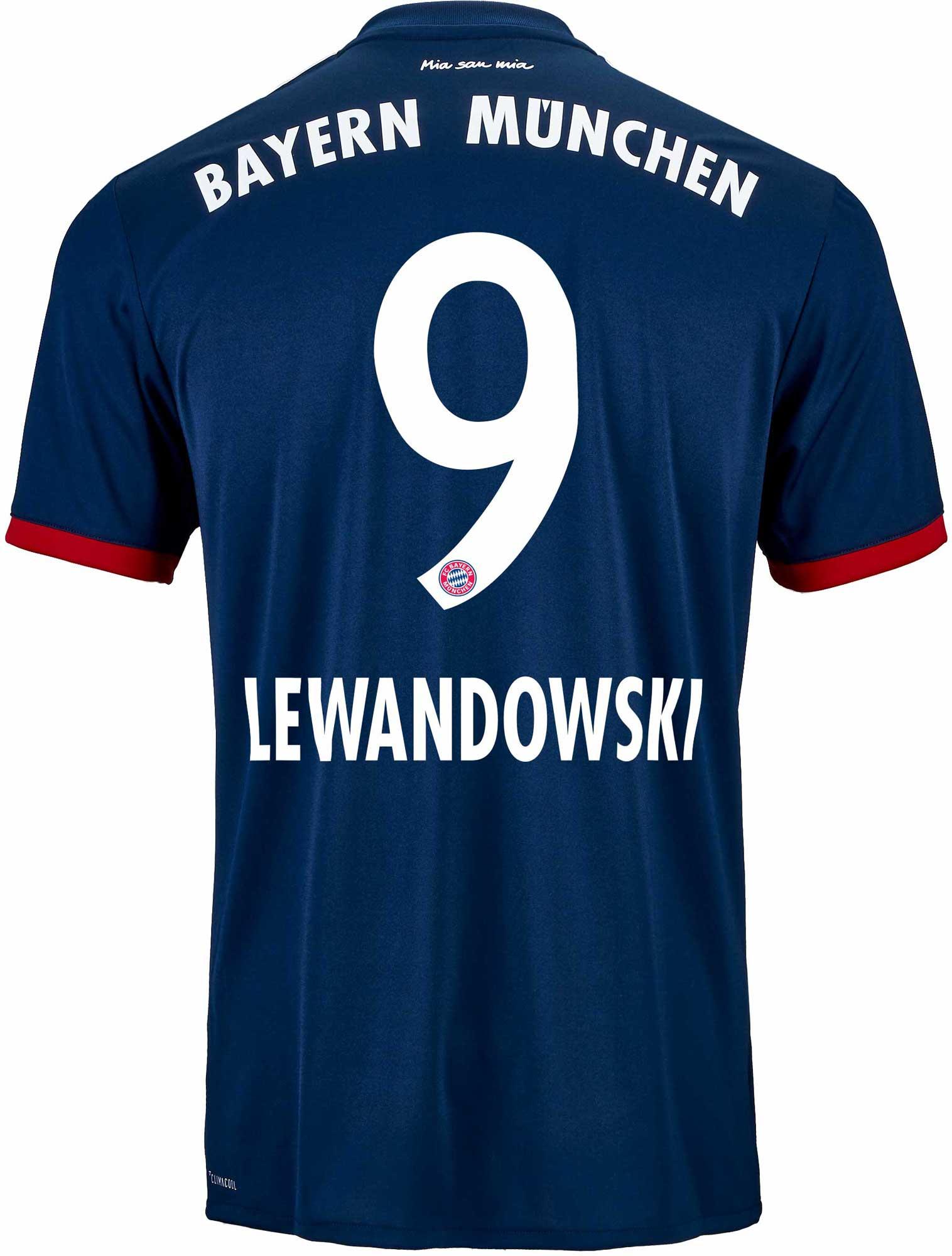 2017/18 adidas Kids Robert Lewandowski Bayern Munich Away ...