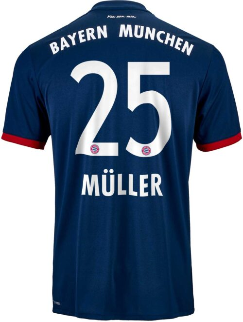 2017/18 adidas Kids Thomas Muller Bayern Munich Away Jersey