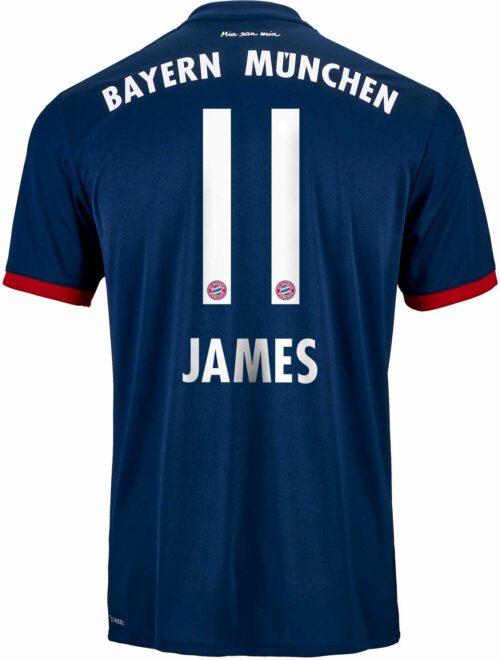 adidas James Rodriguez Bayern Munich Away Jersey 2017-18