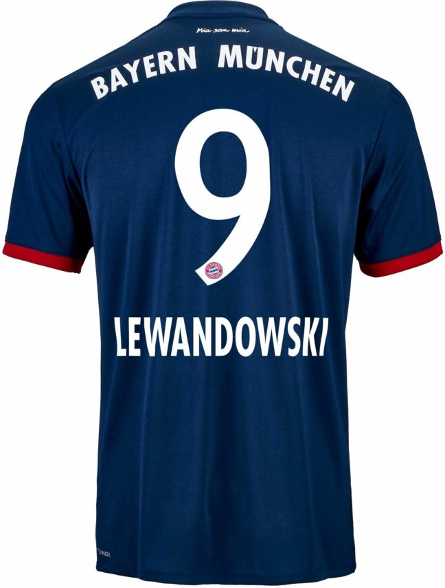 adidas Robert Lewandowski Bayern Munich Away Jersey 2017-18