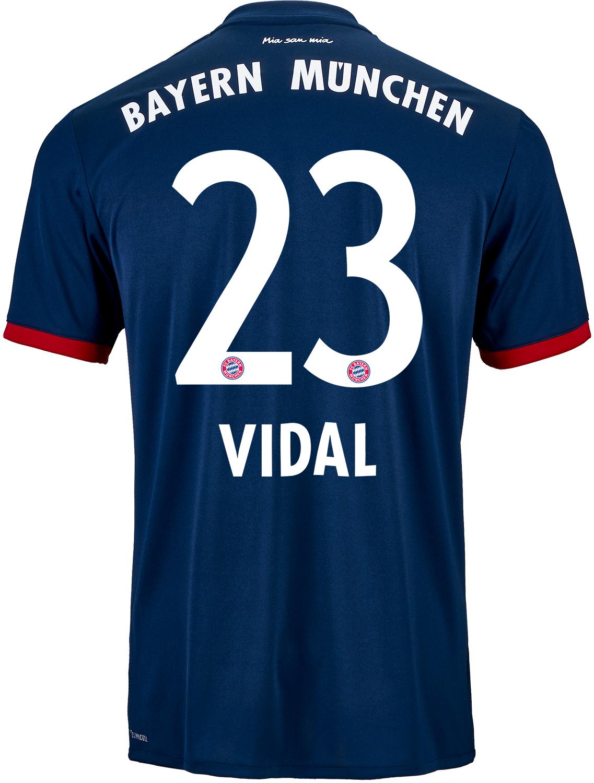 low priced 0dacc a9672 2017/18 adidas Arturo Vidal Bayern Munich Away Jersey ...