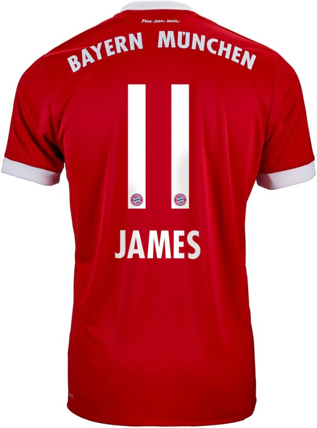 adidas Kids James Rodriguez Bayern Munich Home Jersey 2017-18