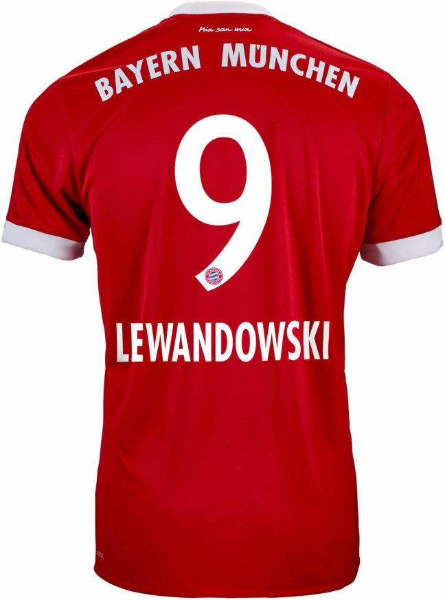 adidas Kids Robert Lewandowski Bayern Munich Home Jersey 2017-18
