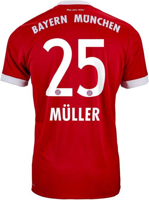2017/18 adidas Kids Thomas Muller Bayern Munich Home Jersey