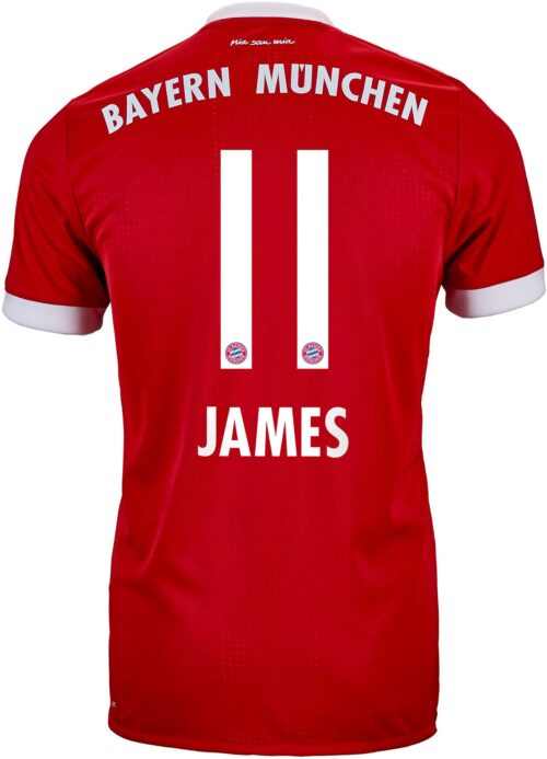 2017/18 adidas James Rodriguez Bayern Munich Authentic Home Jersey