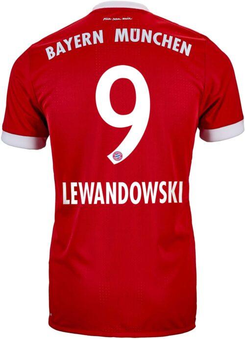 2017/18 adidas Robert Lewandowski Bayern Munich Authentic Home Jersey