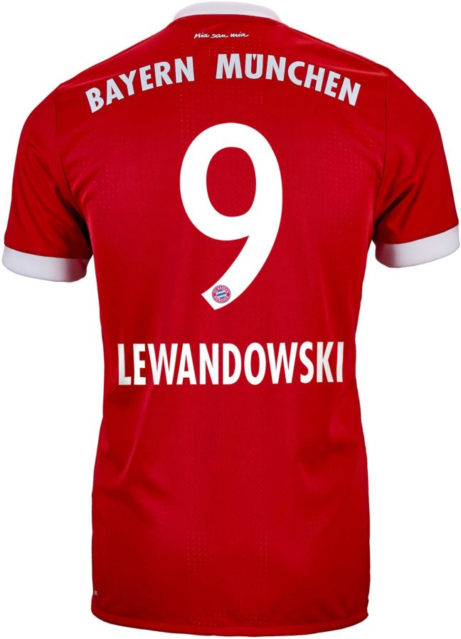 adidas Robert Lewandowski Bayern Munich Authentic Home Jersey 2017-18