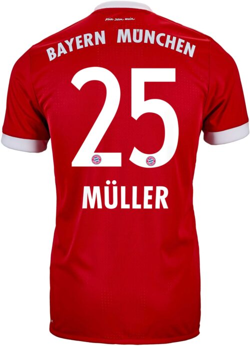 adidas Thomas Muller Bayern Munich Authentic Home Jersey 2017-18
