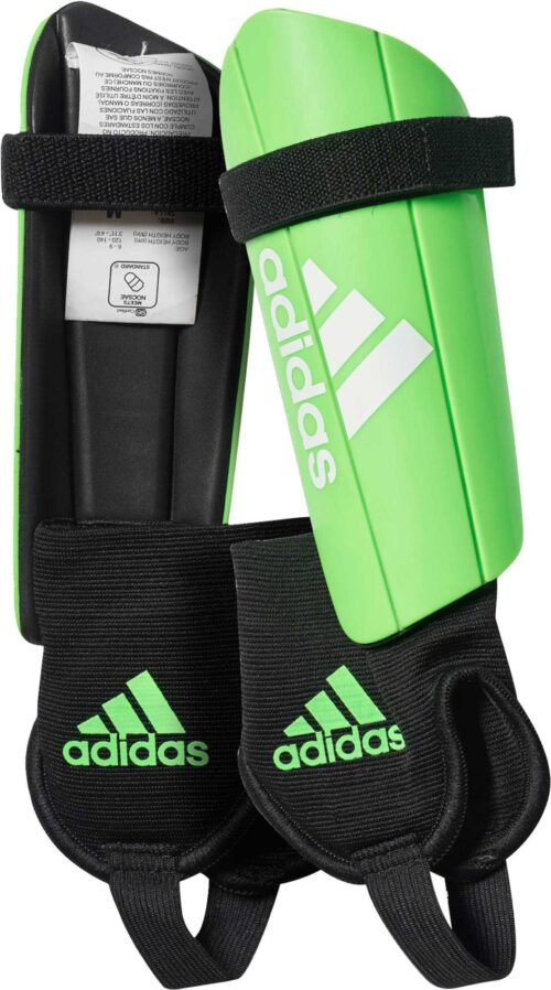 adidas Kids Ghost Shin Guards – Solar Green/Black