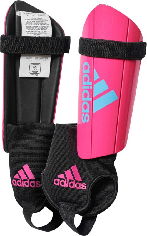 adidas Kids Ghost Shin Guards – Shock Pink/Bright Cyan