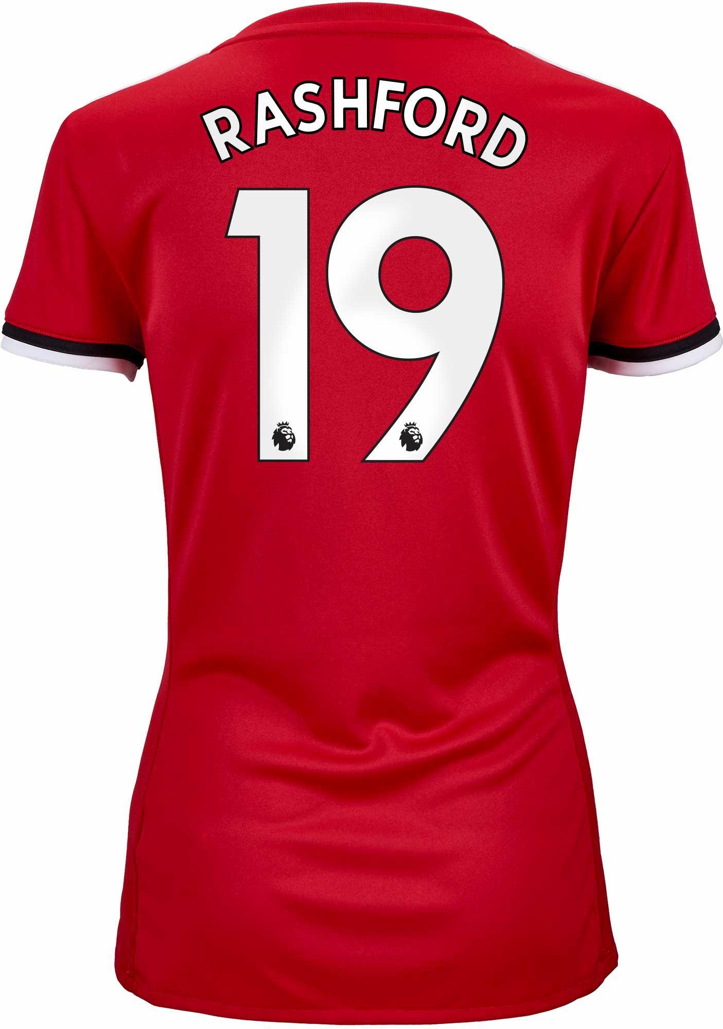 2017/18 adidas Womens Marcus Rashford Manchester United Home Jersey - SoccerPro