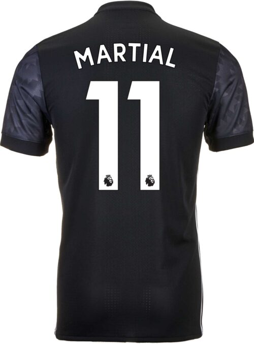 adidas Anthony Martial Manchester United Authentic Away Jersey 2017-18