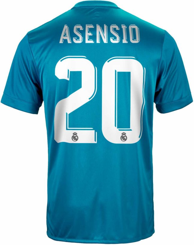 adidas Kids Marco Asensio Real Madrid 3rd Jersey 2017-18