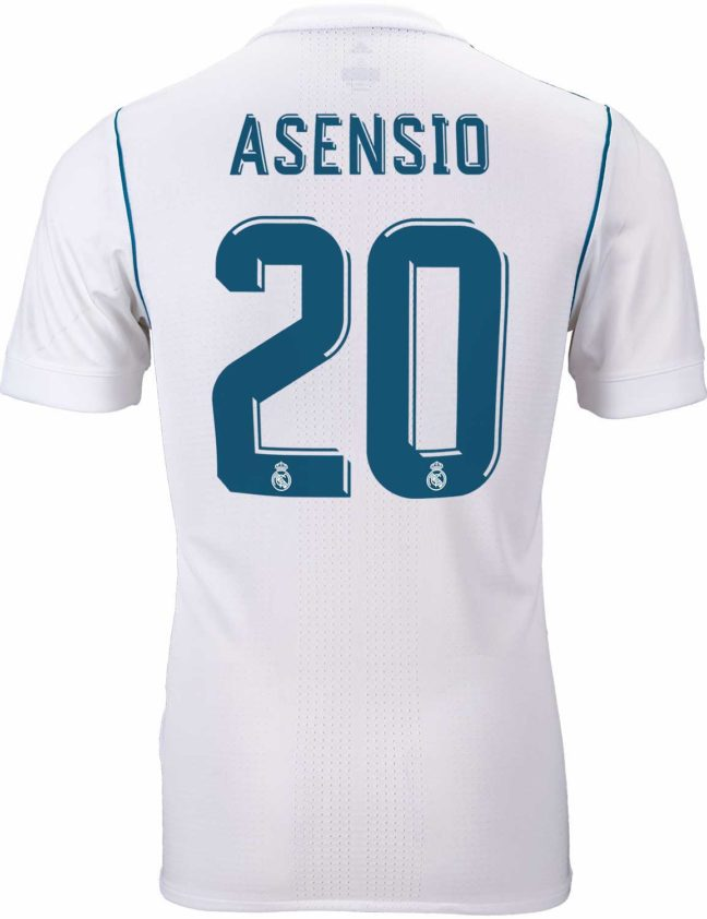 adidas Marco Asensio Real Madrid Authentic Home Jersey 2017-18
