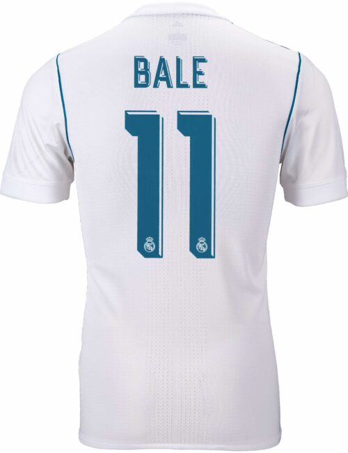 2017/18 adidas Gareth Bale Real Madrid Authentic Home Jersey
