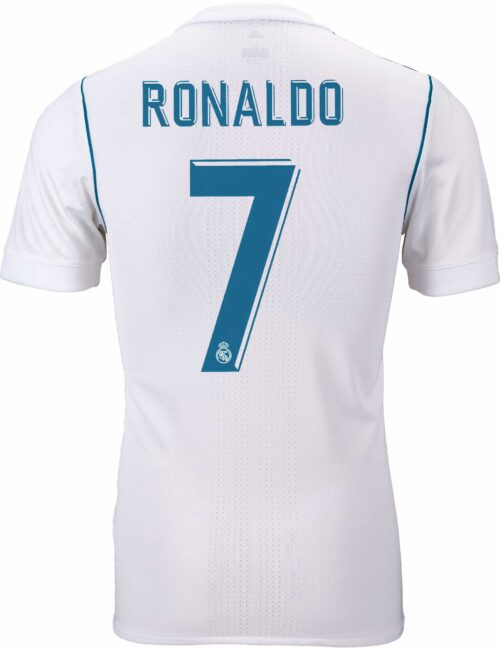 adidas Cristiano Ronaldo Real Madrid Authentic Home Jersey 2017-18