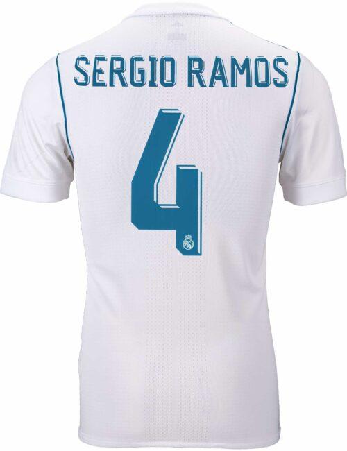 2017/18 adidas Sergio Ramos Real Madrid Authentic Home Jersey