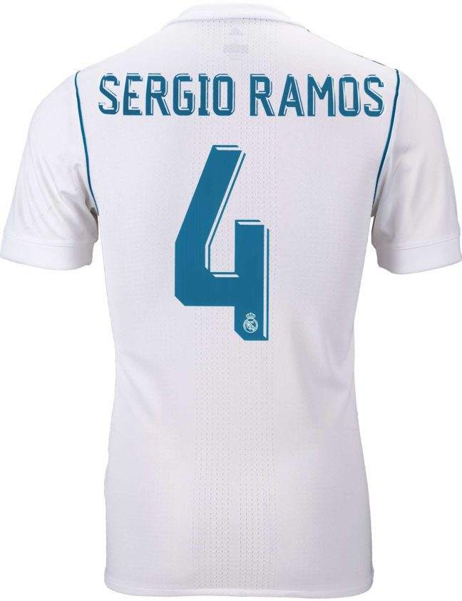 adidas Sergio Ramos Real Madrid Authentic Home Jersey 2017-18