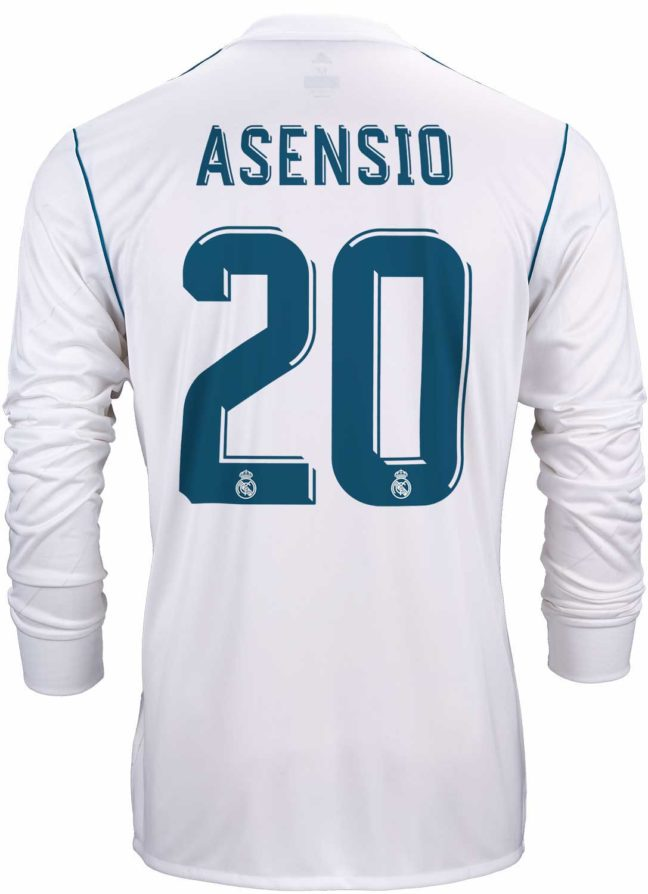 adidas Marco Asensio Real Madrid L/S Home Jersey 2017-18