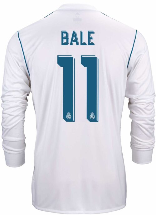 adidas Gareth Bale Real Madrid L/S Home Jersey 2017-18