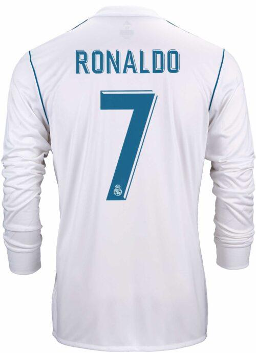2017/18 adidas Cristiano Ronaldo Real Madrid L/S Home Jersey