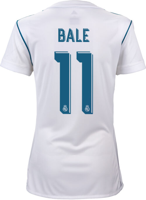 2017/18 adidas Womens Gareth Bale Real Madrid Home Jersey
