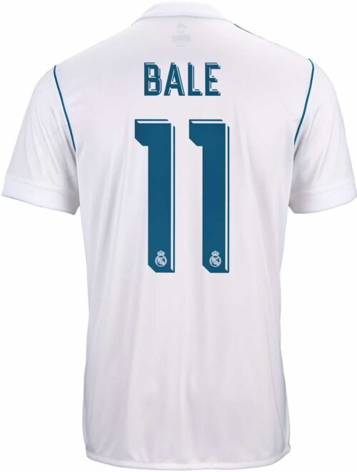 adidas Kids Gareth Bale Real Madrid Home Jersey 2017-18