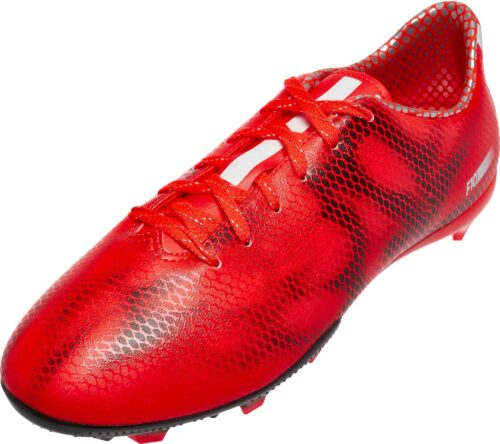 adidas Youth F10 FG Soocer Cleats – Red/White